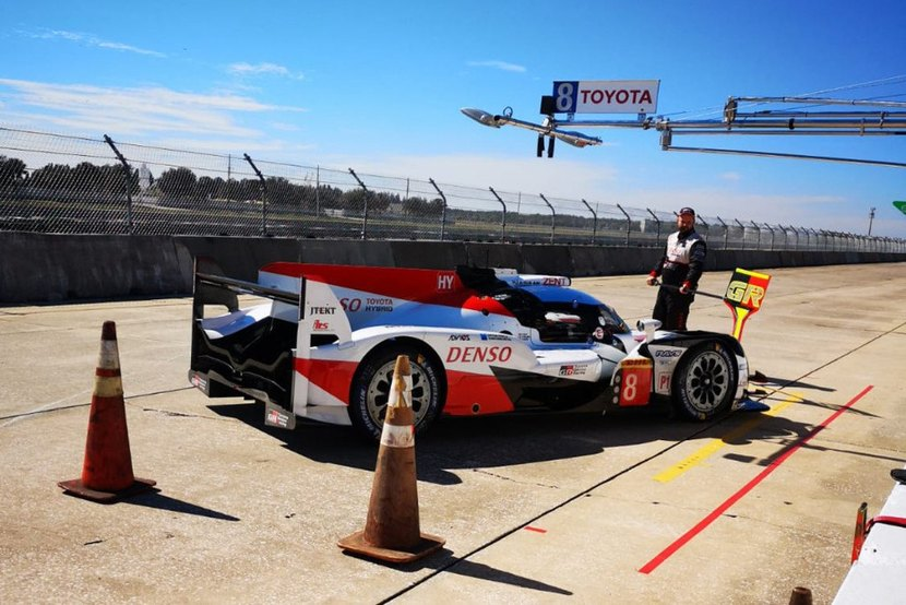 Toyota in the Sebring tests