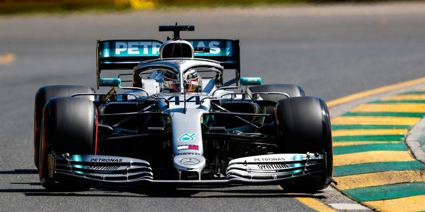 Hamilton in Mercedes at the Australian Grand Prix